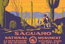 American Travel Artwork / Vintage Style Posters and Artwork for the US National Parks, Monuments, Landmarks and State Parks