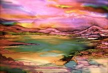 Alcohol ink art/projects / by Donna Mattison-Earls