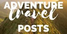 Adventure Travel Posts / Adventure Travel Posts to inspire you out of your comfort zone. Ever wanted to travel somewhere adventurous, have a digital detox and leave the real world behind for a little bit? Here you'll find all the inspiration you need! My top picks for adventurous travel from some of my favourite travel bloggers. Covering all areas of the globe and posts including; hiking, camping, water sports, exploring, trekking, road trips, adventures, microadventures, budget travel, backpacking and more!