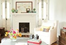 Fireplaces / Fireplaces I'd love to curl up and read in front of! / by Hooked on Houses