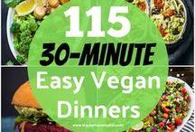 30 Minutes or Less Vegan Meals / 30 minute vegan recipes, quick vegan recipes, 30 minute vegan meals, 30 minute vegan dinner, fast vegan recipe ideas, quick vegan lunches, 10 minute vegan meals, 30 minute vegan lunch, fast vegan breakfast,