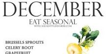 monthly| food tips / The fruits and vegetables of the season. :)