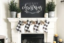 Christmas Decor // Holiday Decorations / Holiday and Christmas decorations and decor. Deck the halls with cheer with these Christmas ideas. From DIY to store bought... featuring farmhouse Christmas looks!
