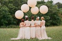 Wedding | Bride maids / Bride maids and their dresses