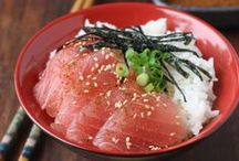 Sashimi / Sashimi and all that goes with it.