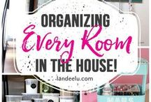 Organizing Hacks / DIY storage solutions for organizing projects, affordable solutions to help you get organized, DIY solutions to help you get and stay organized, life hacks to help you get organized, easy tutorials for organizing projects.