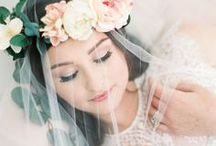 Ethereal Bridal Style / Ethereal bridal inspiration with delicate veils, elegant florals and gorgeous flowing wedding dresses. Bridal hairstyles of loose curls, updos and side-swept styles. Romantic and graceful.