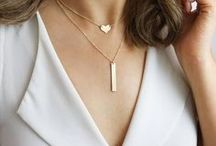 Engraved Layered Disc and Bar Necklaces