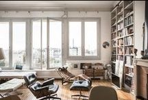 Spaces / Love these spaces.  Someday I want to incorporate bits and pieces into our dream home.