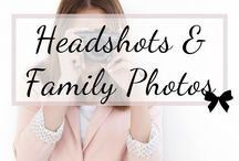 Headshots and Family Photo Ideas / Take amazing headshots for your business, book covers, websites, and profile pictures.