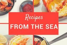 Recipes From The Sea / Lobster, Seafood & Food Recipes, Serving Ideas, Side Dishes and Food Displays.