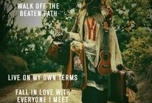 Hippie Chic (hippie at heart...) / Peace and love... / by Jean Mayo