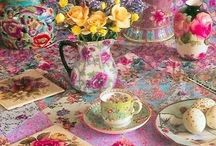 ❤️Tea Cups & Saucers  / Beautiful designs and beautiful china....I love it! / by Holland❤️