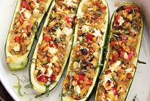 Meatless Menu: Zucchini / This time of year, gardens and farmers' markets alike are replete with zucchinis. And how nice that such a versatile vegetable is such a great source of folate, potassium, & vitamins A & C!