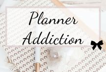 Planner Addiction / Keep your day-to-day schedule, business, and busy life organized with planners and organizers.