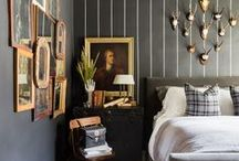ARCHITECTURAL DIGEST + SEAN ANDERSON DESIGN (Renovation) / PARISIAN Bedroom + Bathroom RENOVATION with Black Walls and Antique Layers
