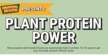 "Plant Protein Power / Get your full daily amount of protein – without meat.  Plant-based foods give you a fresh variety of healthy ways to get your protein each day. Certain nuts, beans and grains are especially high in protein – not to mention rich in nutrients that make you feel great.  The Meatless Monday ""Plant Protein Power"" Kit features posters, social media graphics, and GIFs all highlighting the benefits of plant-based protein. Find out more at: http://www.meatlessmonday.com/plantproteinpower/"