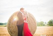 Field Photos | Engagment & Wedding, Bride & Groom / Photo inspiration for engagements and wedding day in fields.  Tall grass, sun flare, great light and lots of love and passion.