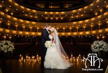 Bass Hall Weddings / Bass Hall in downtown Fort Worth, Texas for weddings and receptions.  Get married on the stage for ultimate drama with a red curtain reveal of your reception on it afterwards.  Or opt for Mc David Studio or Van Cliborn Hall for your party.  Great light, location and architecture.  Ideas and inspiration for wedding decor, lighting, flowers, photos of bride groom, bridal party, bridesmaids, groomsmen.