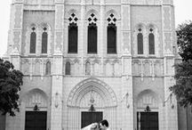 First United Methodist Church, Downtown Fort Worth Weddings / First United Methodist Church FUMC downtown Fort Worth, Texas wedding ceremony.  They have a main sanctuary and smaller intimate chapel.  Inspiration and ideas for decor, photos of the couple, bridal party, bridesmaids, groomsmen, bridals.