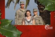 Military Greetings / Thank you to the men and women who serve America each and every day. These are greetings from members of our military who are serving away from home this Christmas season.
