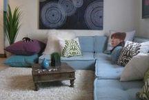 Obývací pokoj / Living room / Skvělé nápady na obývací pokoj s posezením na futonech.