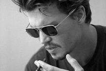 """♂   ♬ σн נσнηηү♫ ♪ σσн נσнηηү ♫ σн נσнηηү σн ♬  ♪ / John Christopher """"Johnny"""" Depp II was born June 9, 1963...he is an American actor, producer and musician...he has won the Golden Globe Award and Screen Actors Guild award for Best Actor...he has been twice named as the """"Sexiest Man Alive"""" by People magazine in 2003 and 2009...he has been listed in the 2012 Guinness Book of World Records as the highest paid actor with $75 million...OOOh Johnny.... / by b◊ηηÎÈ È"""