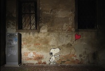 """Street Art / """"Speak softly, but carry a big can of paint.""""  ― Banksy / by Angie Bangert"""