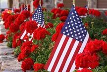 red, white & blue holidays / by Ann Barr