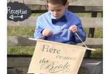 Rustic Country Wedding / #Burlap
