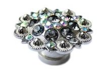 Drawer Knobs and Cabinet Knobs with Crystals / There's nothing quite like the delicate shimmer of crystal. Sparkling drawer knobs will add a touch of glamour to a dresser or cabinet in need of a quick update! Stunning glass crystals embedded in whimsical metal furniture knobs can turn an ordinary cabinet into a conversation piece. Wherever your home needs a little sparkle, crystal furniture knobs can provide a gorgeous, functional accent to your space.