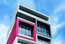 Colour meets architecture
