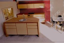 Zoe Hewett Interiors Vintage Dollshouse (1970s Landby Stockholm) Upcycled / This is a dollhouse I found in a terrible state with dated wallpaper and floorings.