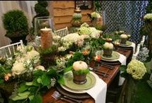 Rustic Glam Fall Decor / The Barn at Sycamore Farms is a new event venue located on 28 acres in the heart of Arrington, Tennessee capable of accommodating up to 400 guests for weddings, corporate events and private parties. The barn features cedar beams, crystal chandeliers, ladies and gentlemen's lounges, stone benches, two verandas overlooking the only island ceremony setting in Tennessee. The Barn at Sycamore Farms is designed for all seasons and weather conditions.