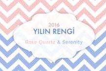 Rose Quartz & Serenity / Pantone color of the year: rose quartz & serenity