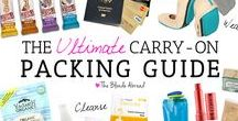 Travel packing: carry on only travel tips * / Packing tips and lists to travel with a carry on bag/ backpack only