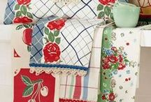 Fabrics and Linens for Vintage Kitchen