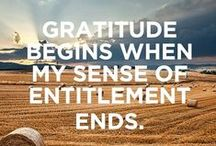 Gratitude  / Being consistently grateful will have a positive effect on your life.