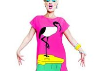 POP ART FASHION! / Oversized Pop Art dresses and t-shirts for all genders inspired by Australian iconography by artist & designer FRIDA LAS VEGAS hailing from fabulous Sydney, Australia!