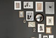 THE ART OF ARRANGING / Gallery walls, salon walls, art hugging corners, art hanging from a thread-- lots of options for showing off your collections!