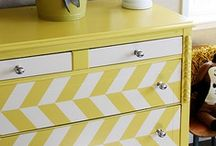 DIY Painted Furniture / Up-cycle old pieces with FrogTape® to make them look brand new again.