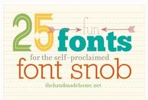 || fonts and design || / by Amanda Montgomery