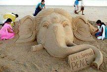 Elephant Sand Sculpture / by Deborah Haseltine