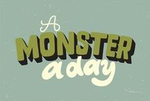 A monster a day / Plain simple, i draw a monster every day. Sometimes a quick sketch, sometimes a more detailed illustration. Enjoy!