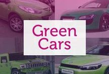 Green Cars / Historically a car colour associated with classic MG's, green cars can vary from bright neons to forest greens to ATV khaki.