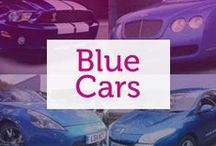 Blue Cars / From bright electric blues to darker navys, blue can evoke a number of different emotions from speedy excitement to a more relaxed calm.