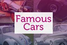Famous Cars / Whether featured in Blockbusters or owned by the rich and famous, all of these cars have achieved fame in their own right and are iconic cars in pop culture.