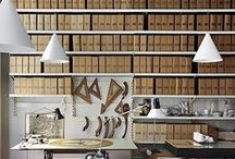 atlier / Work spaces, study room, the study, sewing spaces, studio,  painting spaces, office, craft room, bookshelves, bookcase, bookend / by Narth