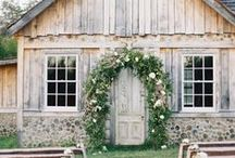 Rustic Wedding / Wedding inspiration for a rustic chic wedding in a barn or other picturesque, countryside locale.