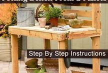Wood Pallet Projects/Ideas / A collection of tons of uses for wood pallets that you can find in all sorts of places for free or for sale at cheap prices. Let your imagination  flow and make your own creations. / by Polly Nance